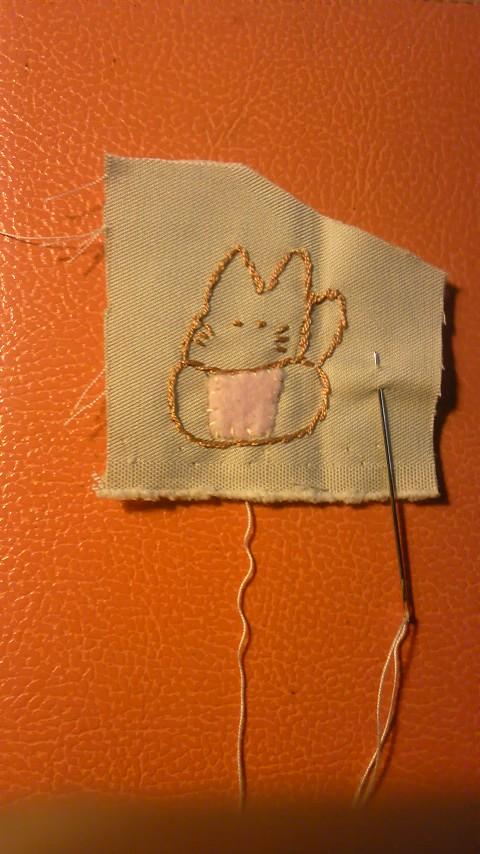 ミニうさぎの刺繍